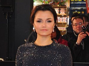 Samantha Barks arrives at the premiere of Les Miserables at the Empire Leicester Square, London, UK