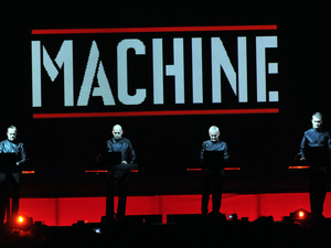 Kraftwerk perform at the Manchester Velodrome