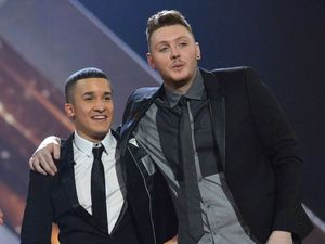 The X Factor Final: Jahmene and James.