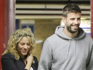 Pregnant singer Shakira and her boyfriend, soccer player Gerard Pique go to the cinema to watch the new James Bond movie, SkyfallFeaturing: Shakira,Gerard Pique