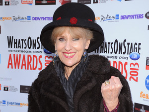 Anita Dobson arrives at the Whatsonstage.com Awards Launch party at Cafe de Paris, London.