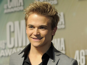 Hunter Hayes poses backstage with the new artist of the year award at the 46th Annual Country Music Awards at the Bridgestone Arena on Thursday, Nov. 1, 2012, in Nashville, Tenn.