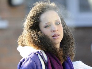 Kirsty and Tyrone&#39;s wedding - On set pictures: Natalie Gumede as Kirsty