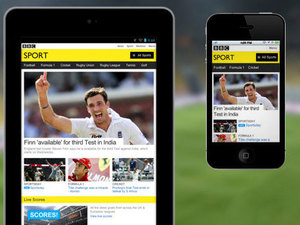 BBC Sport mobile site relaunches with responsive design