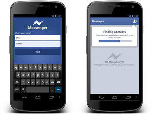 Facebook Messenger application that does not require a Facebook account
