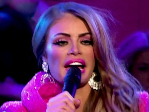 Chloe Sims performs Barbie Girl at Args Charity Show on &#39;The Only Way Is Essex Live&#39; 
