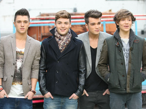 Celebrities at the ITV studiosFeaturing: Jamie Hamblett, Jaymi Hensley, Josh Cuthbert, George Shelley, Union J Where: London, United Kingdom When: 03 Dec 2012 Credit: WENN.com