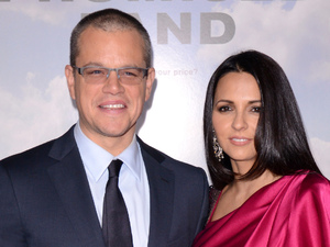 "New York Premiere of ""Promised Land"" at AMC Loews Lincoln Square Featuring: Matt Damon, Luciana Barroso Where: New York City, NY, United States When: 04 Dec 2012"