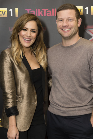 The X Factor Finalists and Judges press conference. TV Programme, Manchester. - 06 Dec 2012 Caroline Flack and Dermot O'Leary 6 Dec 2012