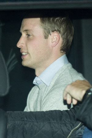 Prince William, The Duke of Cambridge, leaves the King Edward VII Hospital in Central London where The Duchess of Cambridge has been admitted reportedly for a pre-natal check-up. Featuring: Prince William Where: London, United Kingdom When: 03 Dec 2012