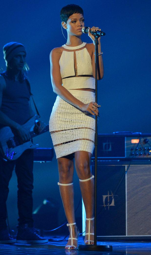 The X Factor Final: Rihanna.