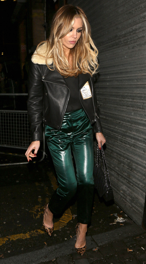 Abbey Clancy, aka Abigail Clancy, arrives at the O2 Academy in Liverpool to watch her brother John's band The Razz support The View