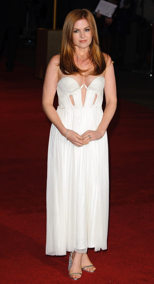 Isla Fisher arrives at the premiere of Les Miserables at the Empire Leicester Square, London, UK