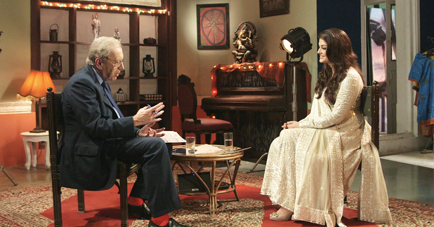 Aiswarya Rai talks on-screen kissing with Sir David Frost in an interview on Al Jazeera English