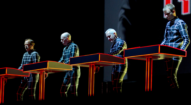 Kraftwerk performing at Way Out West Festival Gothenburg, Sweden