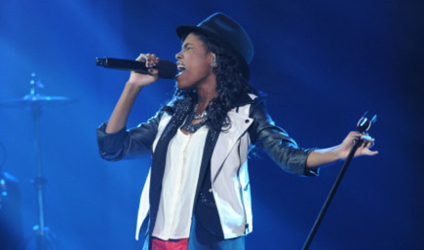 The X Factor USA Live Show - The Top 6 perform: Diamond White