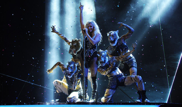 The X Factor USA Top 6 results show: Ke$ha performs live 