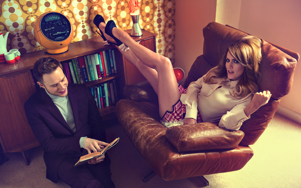 LOOK's photo shoot and interview with Olly Murs and Caroline Flack.