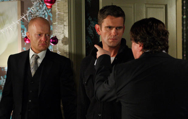 Max is disgusted with Derek for lying to him all this time, and failing to deliver his 'payments'.