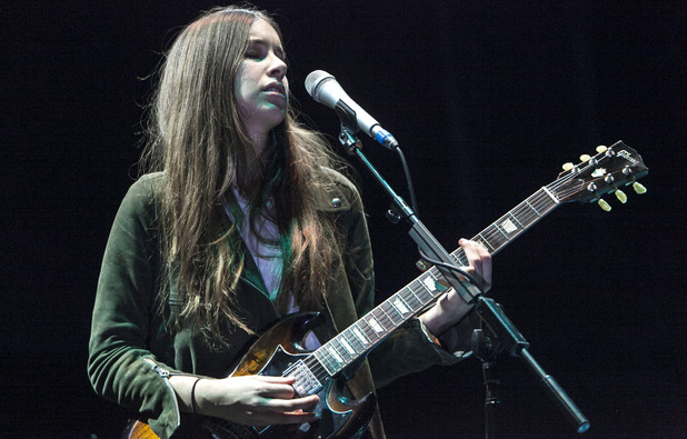 Haim supporting Florence and The Machine at the O2 Arena, London