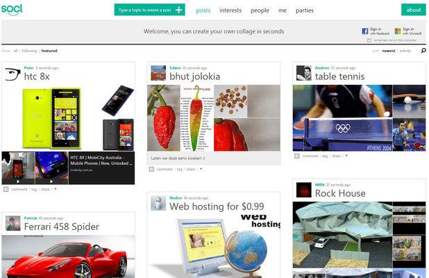 So.cl website screenshot