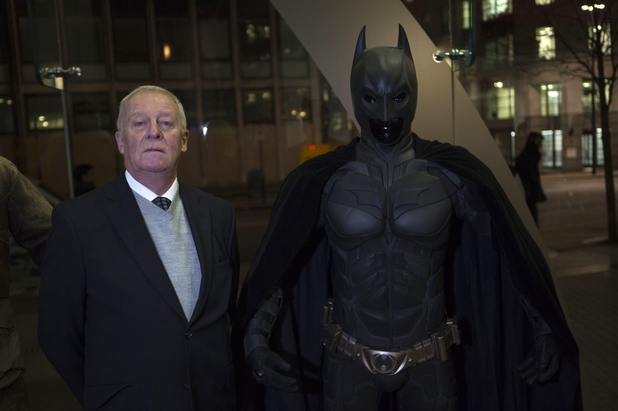 Michael Caine and Batman
