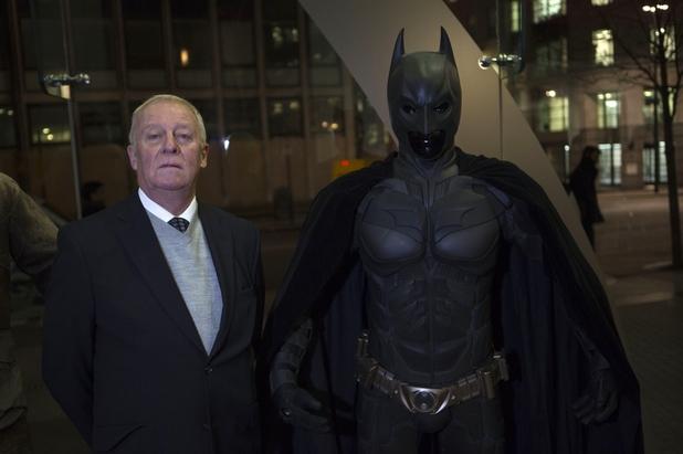 Michael Caine and Batman