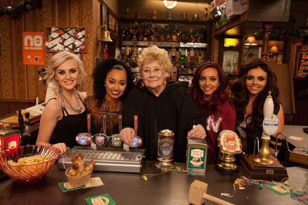 Little Mix and Liz Dawn in A Christmas Corrie