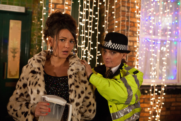 Lorraine Kelly and Michelle Keegan in A Christmas Corrie