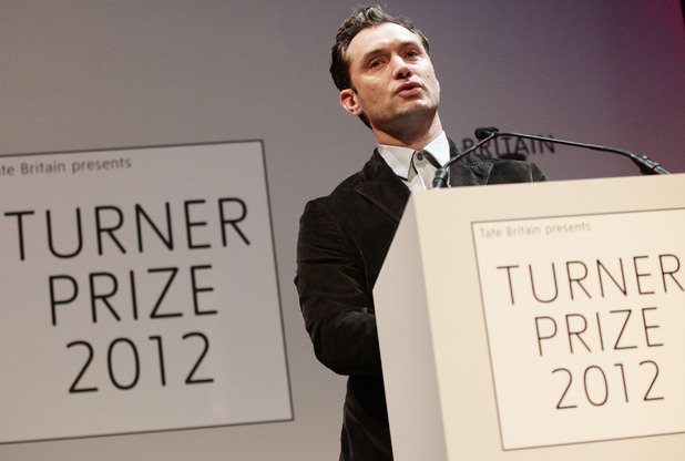 Jude Law, Turner Prize ceremony 2012