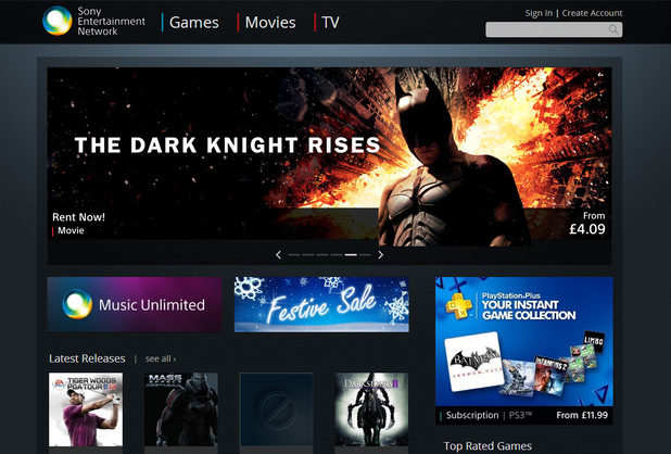 Sony test of web-based Entertainment Network Store