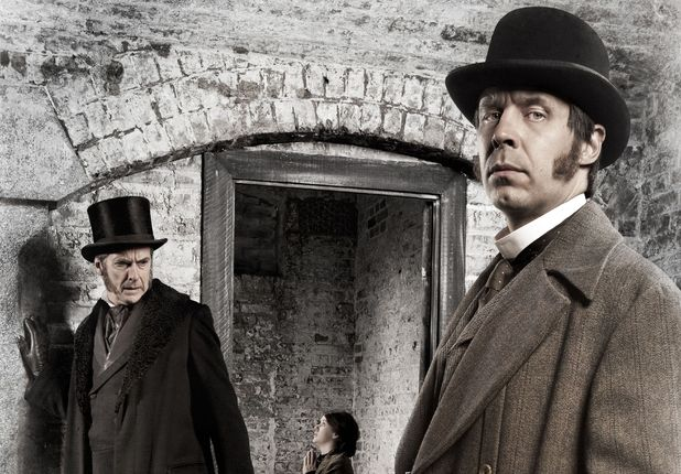 'The Suspicions of Mr Whicher': Peter Capaldi as Samuel Kent and Paddy Considine as Mr Whicher