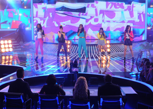 The X Factor USA Live Show - The Top 6 perform: Fifth Harmony