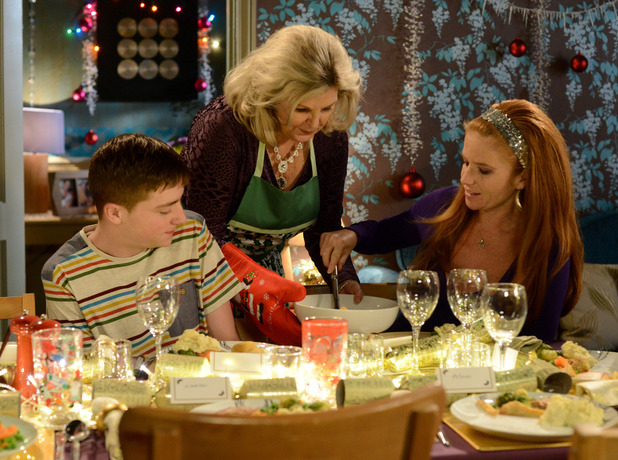 Liam, Cora and Bianca celebrate Christmas.