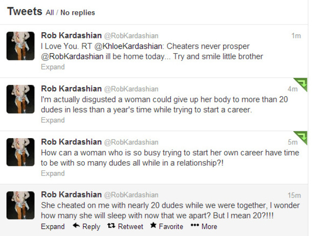 Rob Kardashian tweets about his ex-girlfriend Rita Ora