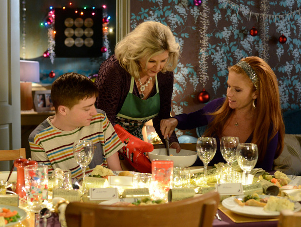 Liam, Cora and Bianca at Christmas