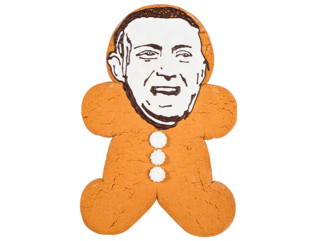 Christopher Maloney as a Greggs Gingerbread man