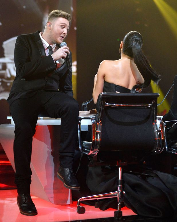The X Factor Final: James serenades Nicole.