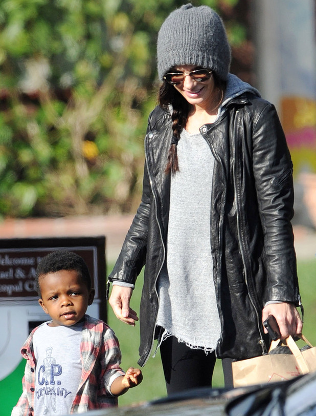 Sandra Bullock out and about in Los Angeles with her son Louis