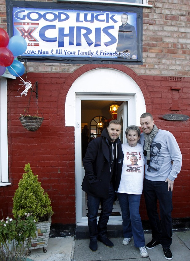 Gary Barlow, Christopher Maloney, X Factor, Liverpool