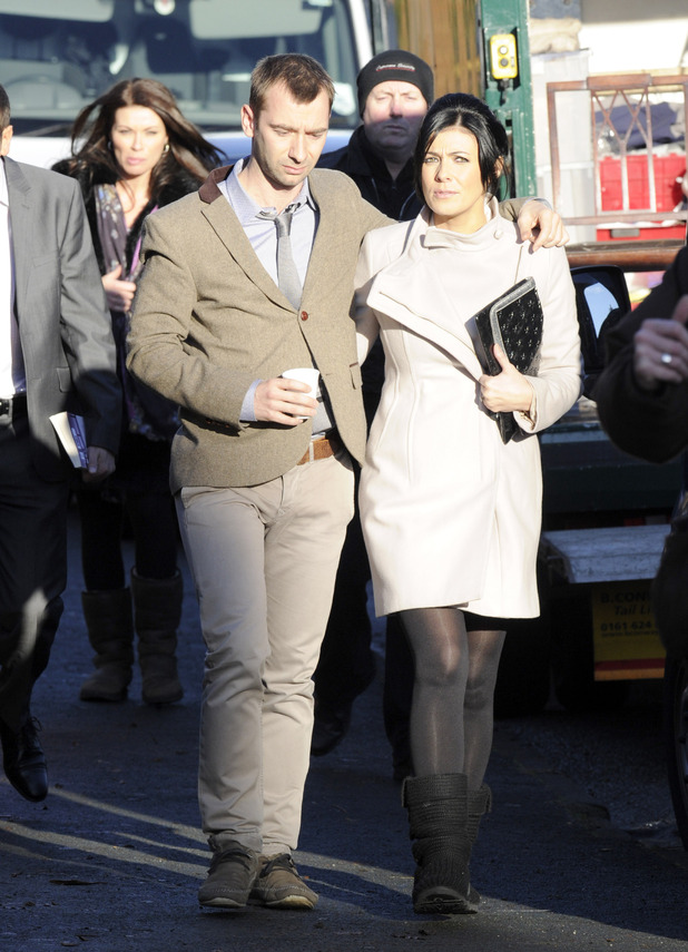 Charlie Condou and Kym Marsh