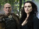 Merlin S05E10 - 'The Kindness of Strangers': Beroun (BARRY AIRD), Morgana (KATIE McGRATH)