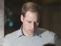 Duke of Cambridge visits Duchess in hospital as she fights pregnancy sickness.