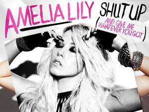 Amelia Lily &#39;Shut Up&#39; single artwork.
