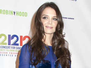 12-12-12 Concert Benefiting The Robin Hood Relief Fund To Aid The victims Of Hurricane Sandy - Press Room Featuring: Katie Holmes Where: New York City, United States When: 12 Dec 2012
