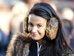Coronation Street TV programme stars out and about in Manchester, Britain - 14 Dec 2012 Michelle Keegan 14 Dec 2012