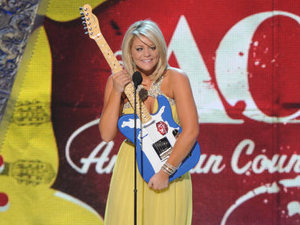 Lauren Alaina wins the New Artist of The Year award at the 2012 American Country Awards at Mandalay Bay Resort and Casino