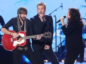 Lady Antebellum perform at the 2012 American Country Awards at Mandalay Bay Resort and Casino