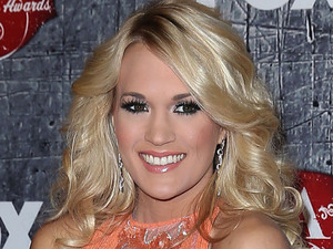 Carrie Underwood arriving at the 2012 American Country Awards at Mandalay Bay Resort and Casino