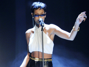 Rihanna performing on the German ZDF TV show 'Wetten, Dass...' at Rothaus Arena Featuring: Rihanna Where: Freiburg, Germany